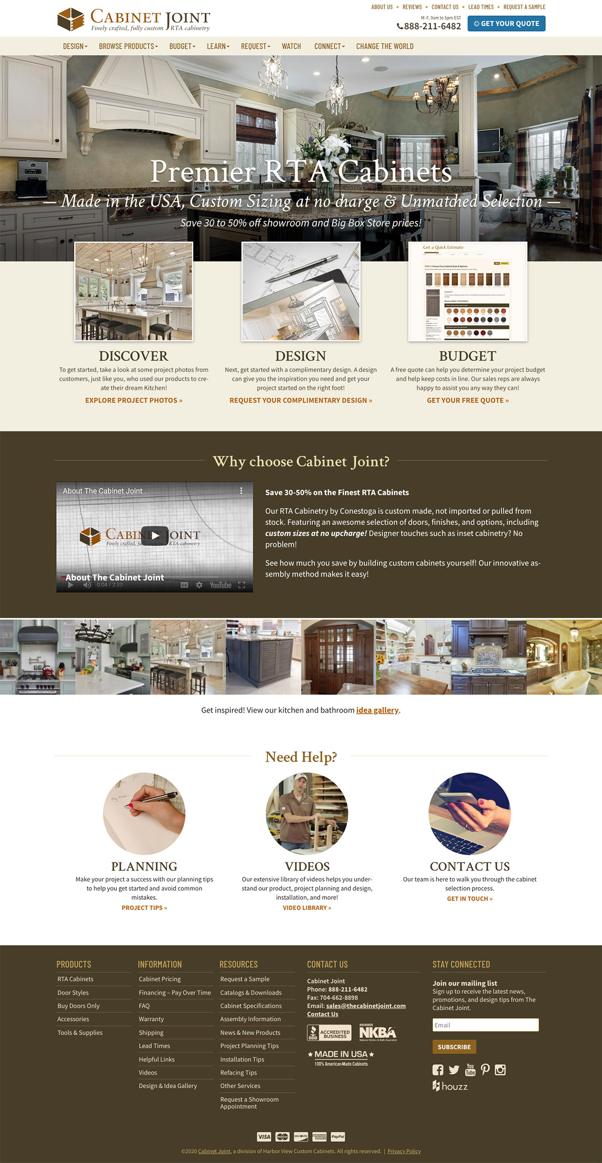 Cabinet Joint homepage