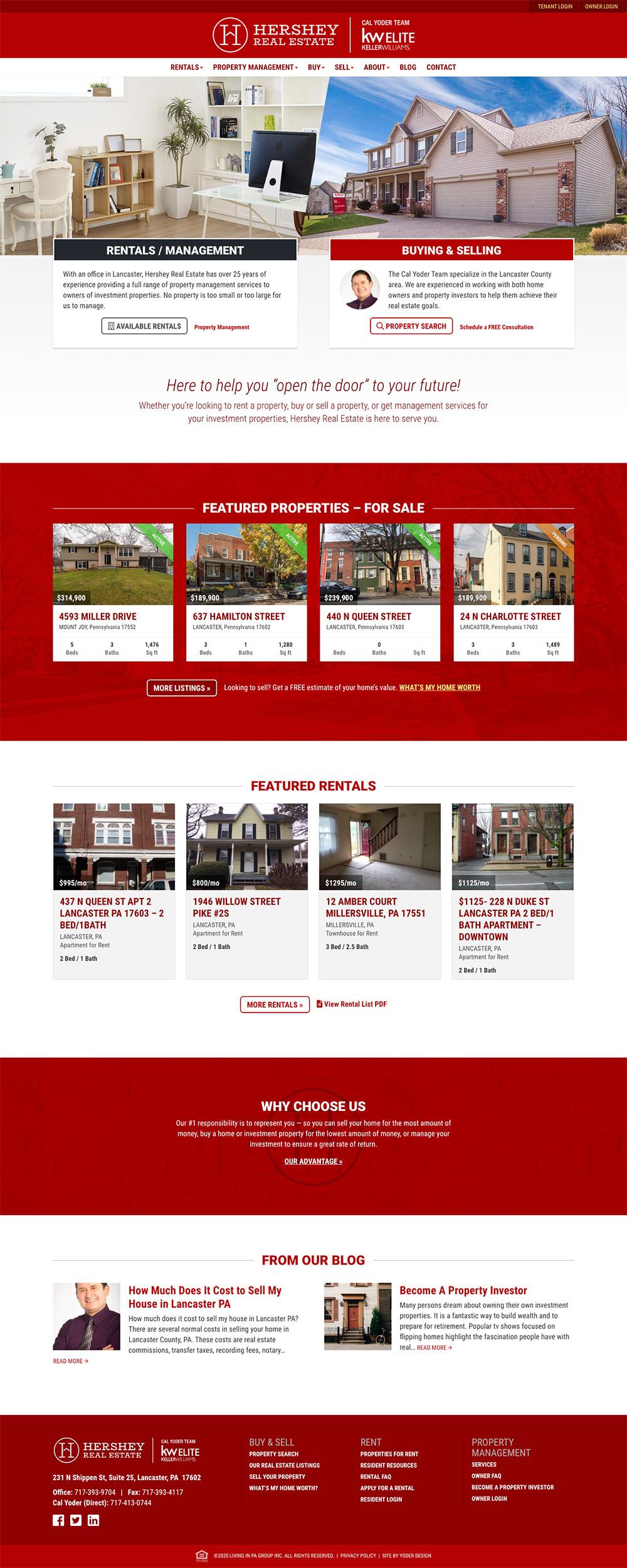 Hershey homepage screen capture