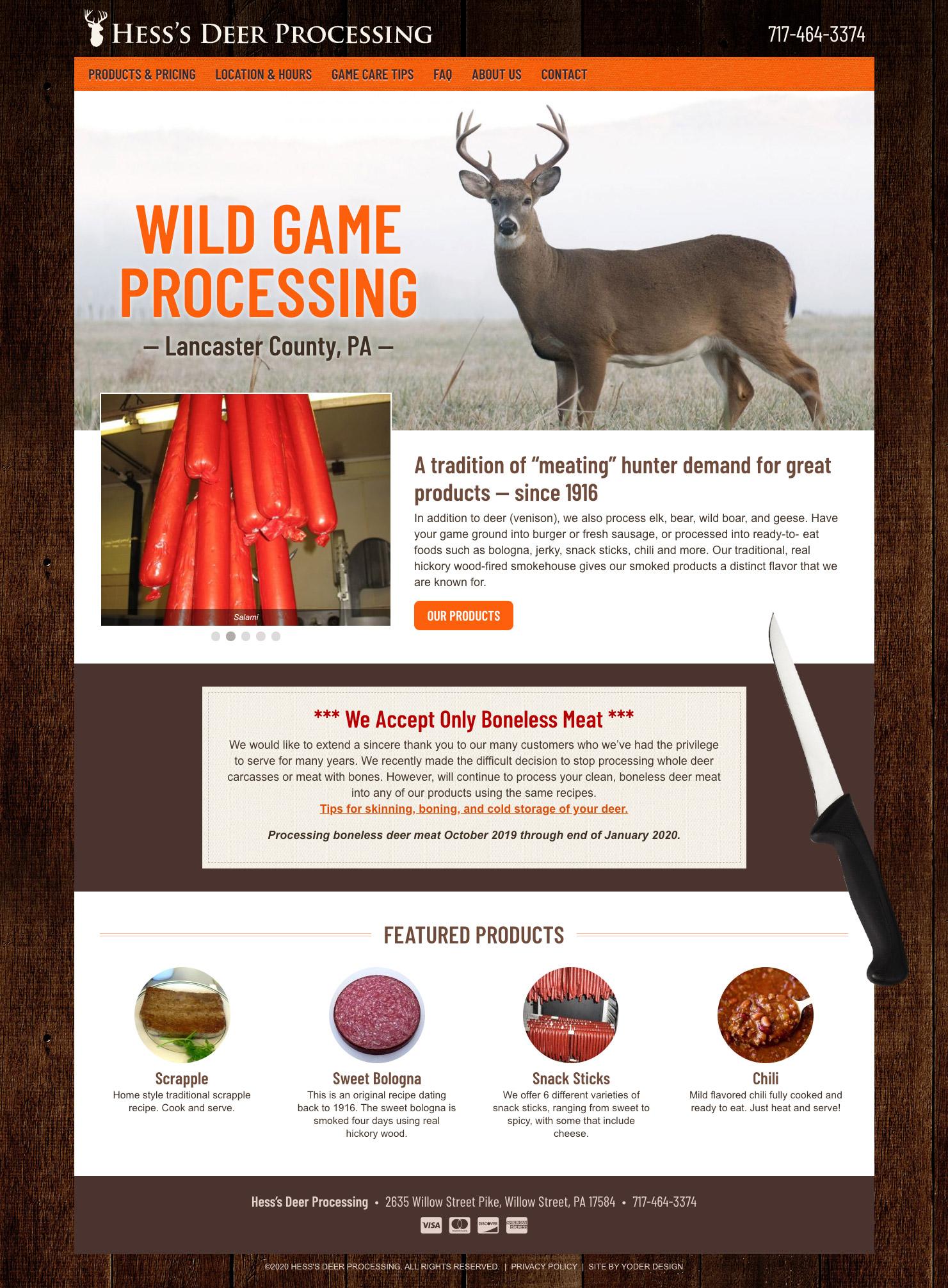 Hess Deer homepage