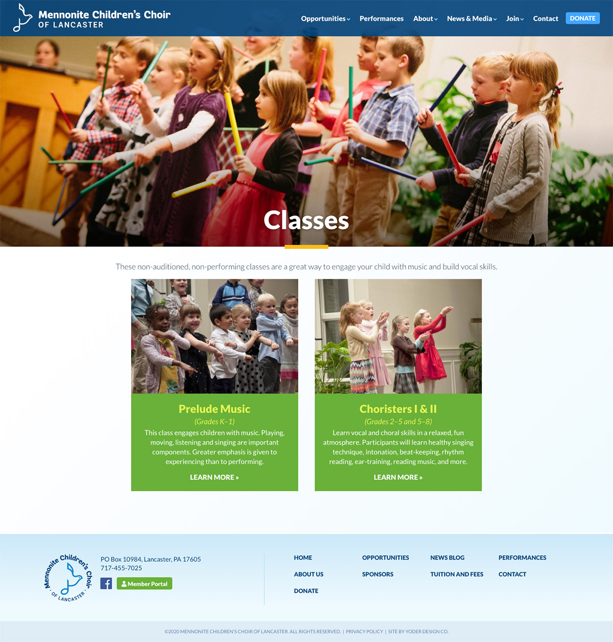 classes page
